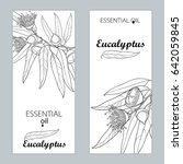 vector templates with outline... | Shutterstock .eps vector #642059845