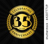 35 years anniversary design... | Shutterstock .eps vector #642077719