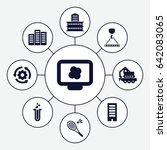 development icons set. set of 9 ... | Shutterstock .eps vector #642083065