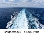 ship's wake in the ocean | Shutterstock . vector #642087985