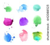 illustration with watercolor... | Shutterstock .eps vector #642088525