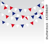 garlands of red white blue... | Shutterstock .eps vector #642088609