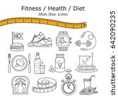 weight loss  diet icons set.... | Shutterstock .eps vector #642090235