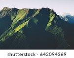 green mountains forest... | Shutterstock . vector #642094369