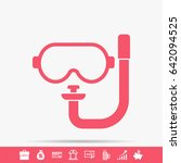 dive mask icon | Shutterstock . vector #642094525