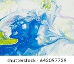 abstract art creative hand... | Shutterstock . vector #642097729