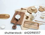 wood kitchenware | Shutterstock . vector #642098557