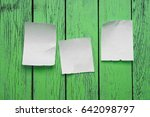 scraps placed on the green... | Shutterstock . vector #642098797