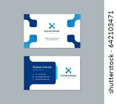 business card design trendy... | Shutterstock .eps vector #642103471