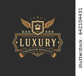 luxury logo template vector... | Shutterstock .eps vector #642104431