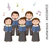vector illustration of choir... | Shutterstock .eps vector #642106915