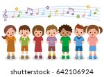 vector illustration of choir... | Shutterstock .eps vector #642106924