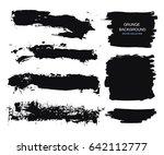 large grunge elements set.... | Shutterstock .eps vector #642112777