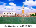 Seaview of Venice- Doge's (Ducale) Palace, Venice, Italy - stock photo