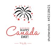 happy 1th of july canada day... | Shutterstock .eps vector #642118621