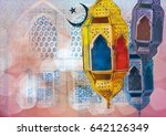 islamic muslim holiday ramadan... | Shutterstock . vector #642126349