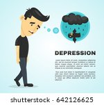 depression infographic concept. ... | Shutterstock .eps vector #642126625