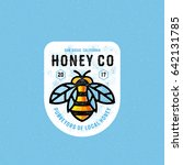honey company vintage textured... | Shutterstock .eps vector #642131785