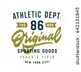 athletic department original... | Shutterstock .eps vector #642131845