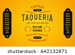 vintage textured typeface duo... | Shutterstock .eps vector #642132871