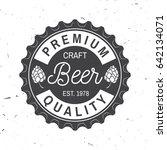 craft beer badge. vector... | Shutterstock .eps vector #642134071