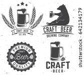 set of craft beer badges with... | Shutterstock .eps vector #642134179