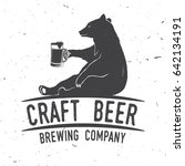 craft beer badge with bear.... | Shutterstock .eps vector #642134191