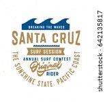 santa cruz original rider t... | Shutterstock .eps vector #642135817