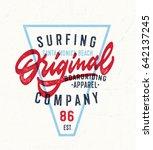 vintage original surfing... | Shutterstock .eps vector #642137245