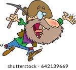 cartoon gold prospector | Shutterstock .eps vector #642139669