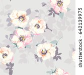 soft flower print   seamless... | Shutterstock .eps vector #642139975