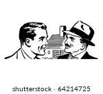 two men talking   retro clipart ...   Shutterstock .eps vector #64214725