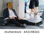 a stressed asian businessman...   Shutterstock . vector #642148261