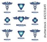 medical logo template design | Shutterstock .eps vector #642151645