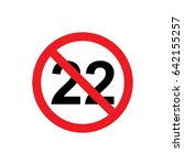 no 22 years icon illustration... | Shutterstock .eps vector #642155257