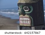 Totem Pole Looking Out Over...