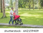 portrait of mother and father... | Shutterstock . vector #642159409