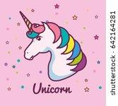 cute unicorn design   Shutterstock .eps vector #642164281