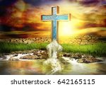 Cross Spouting Water Without...