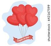 heart balloons icon | Shutterstock .eps vector #642167599