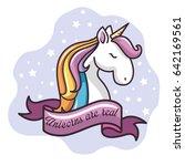 cute unicorn design | Shutterstock .eps vector #642169561