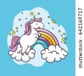 cute unicorn design | Shutterstock .eps vector #642169717