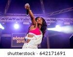 barcelona   jun 16  lady...   Shutterstock . vector #642171691