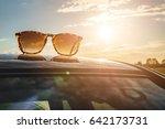 sun glasses at sunset | Shutterstock . vector #642173731
