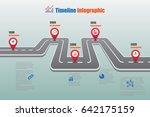 design template  road map... | Shutterstock .eps vector #642175159