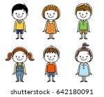children  boys and girls ... | Shutterstock .eps vector #642180091