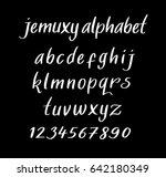 jemuxy vector alphabet... | Shutterstock .eps vector #642180349