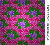 trendy print on a magenta... | Shutterstock .eps vector #642181261