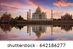 taj mahal agra at twilight from ... | Shutterstock . vector #642186277