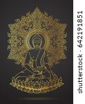 thai tradition of buddha... | Shutterstock .eps vector #642191851
